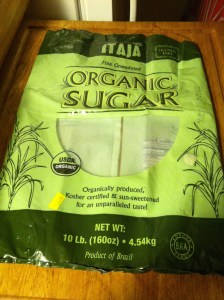 Organic granulated sugar