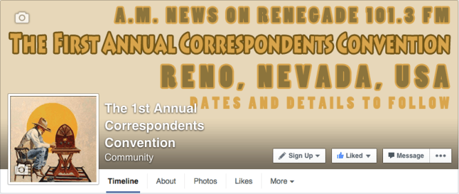 1st Annual  A.M. News Convention Facebook Page