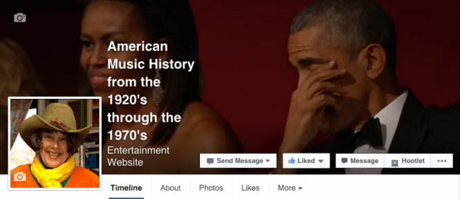 American Music History from the 1920's through 1970's facebook page