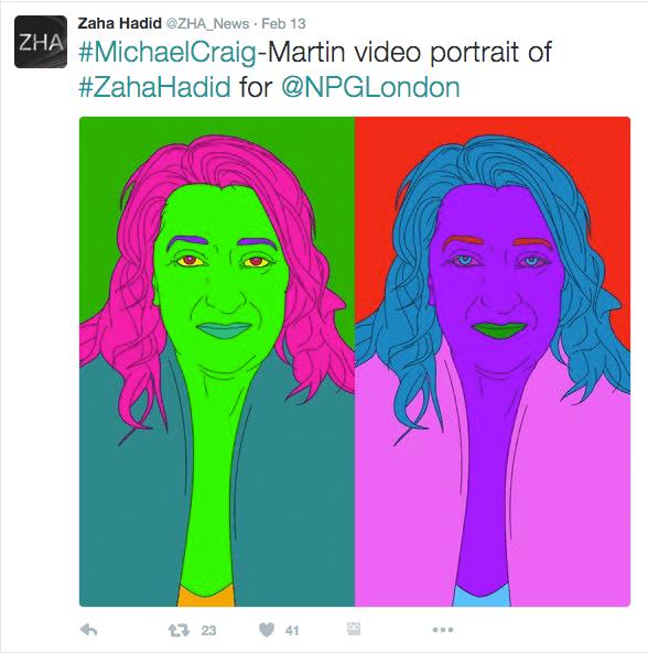 Zaha Hadid portraits 'a la Warhol'