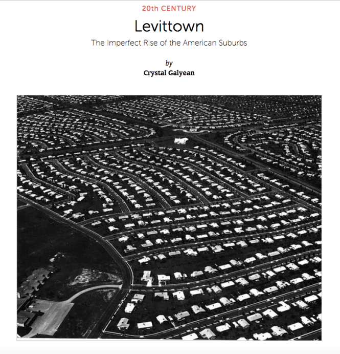 Levittown, developed by Arthur Levitt. Post WWll affordable housing on Long Island, NY.