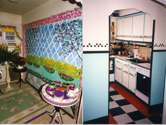 Wall mural, stenciling and decorative painting