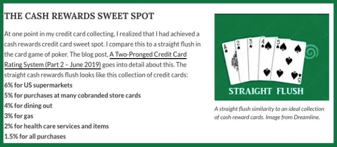 straight flush credit card collection
