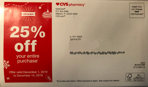 cvs coupon mailer