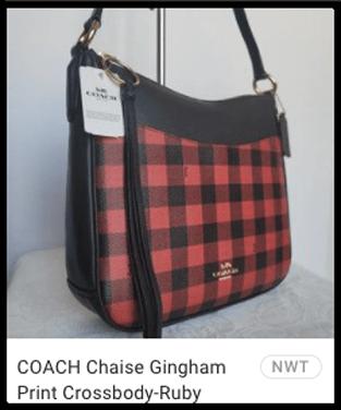 Coach gingham