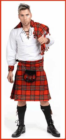 model in tartan outfit