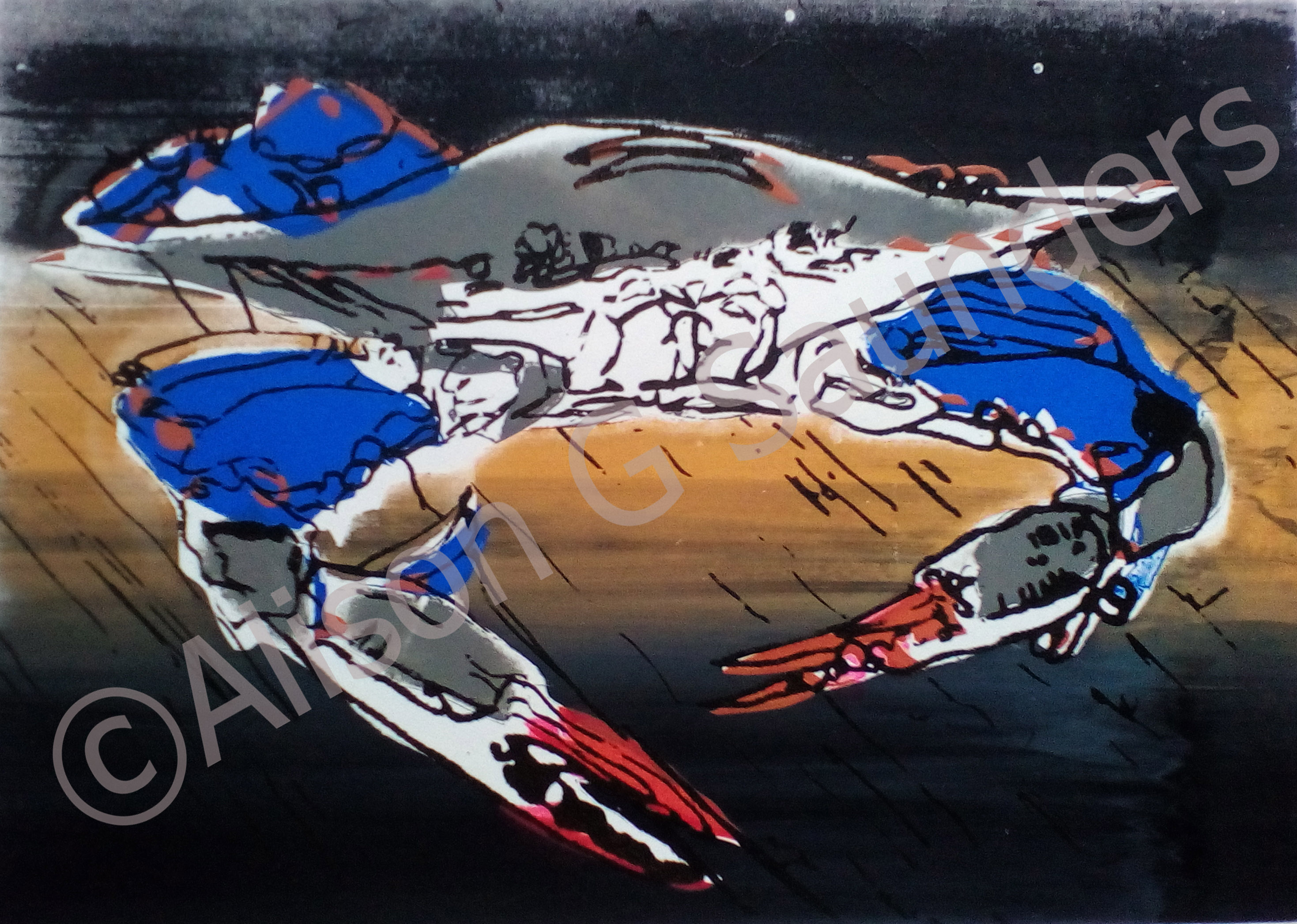 Crab I (1171) £95 340x440mm Watermarked