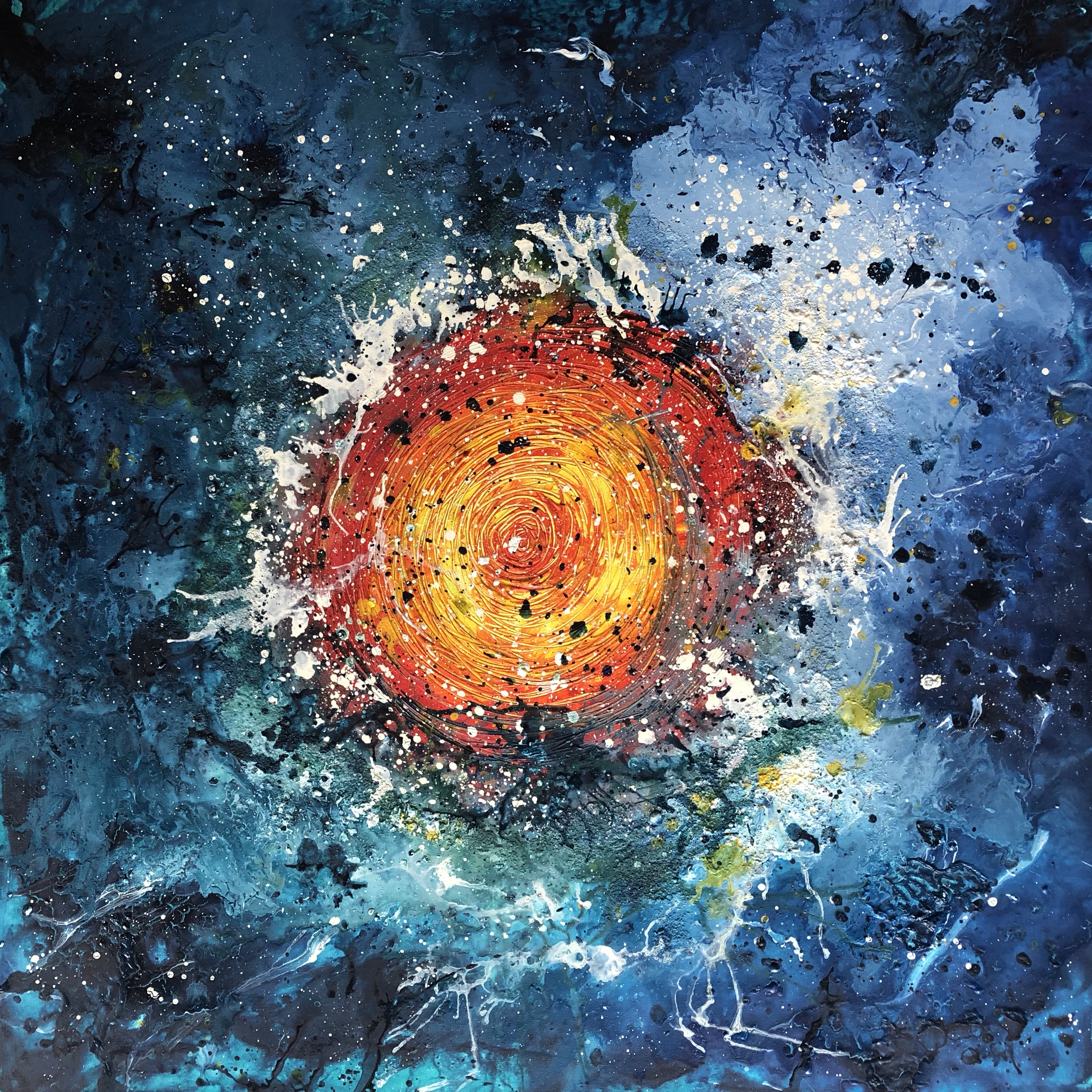 This image has an empty alt attribute; its file name is cosmic-wormhole-1x1m-acrylic-on-canvas-by-anna-clarke-002.jpg