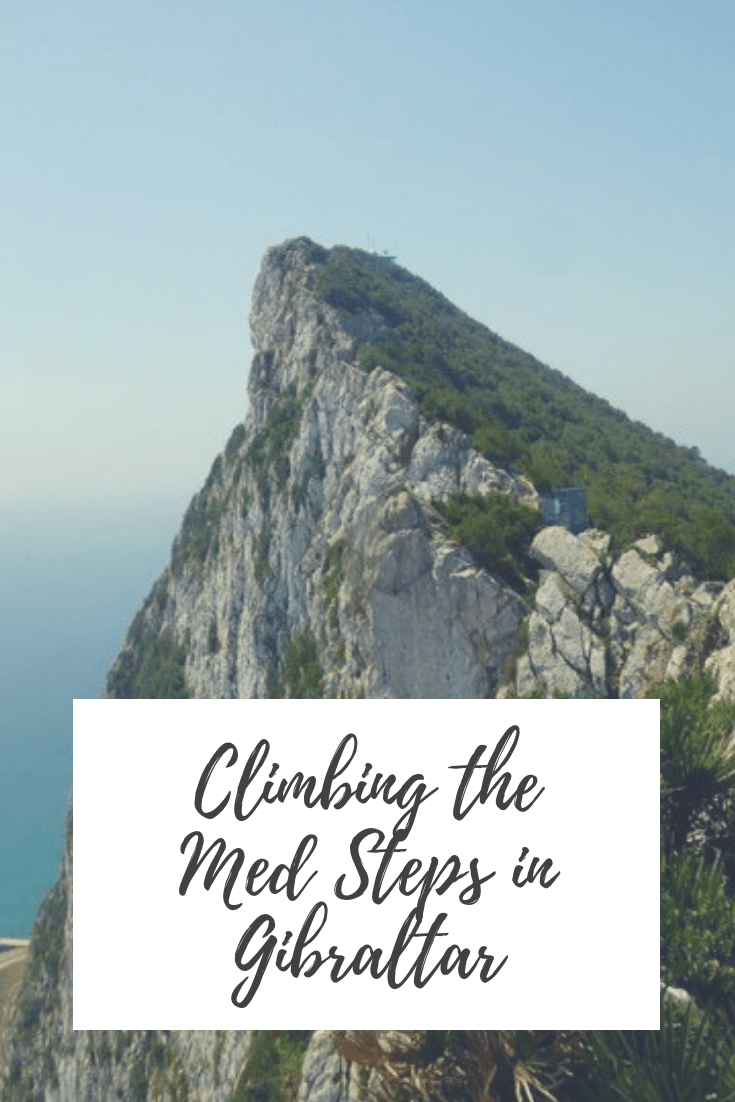 Climbing the Med Steps to the top of the rock of Gibraltar