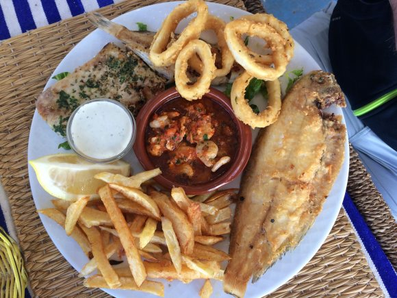 Fried Fish Petit Bistrot de Socco