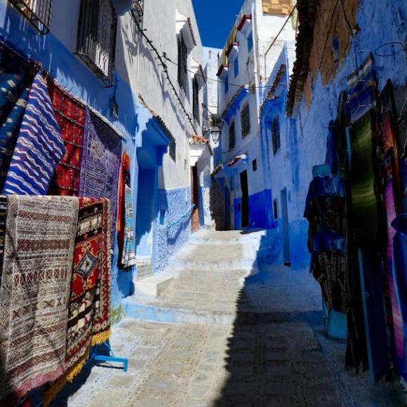 Carpets in alleyway