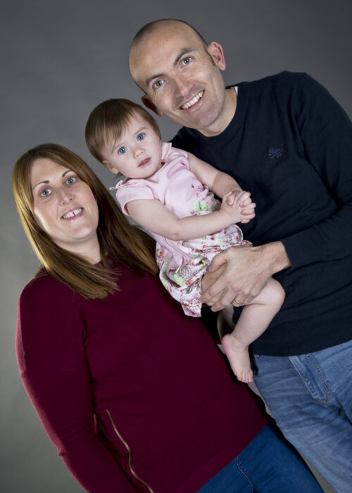 family portrait for first birthday in hull