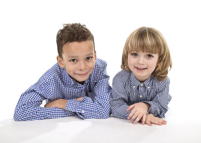 studio sibling portrait taken in Hull