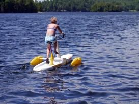 Jude tackles surf bike