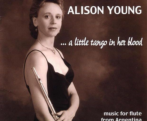 "Alison Young CD cover ""A Little Tango in Her Blood"""