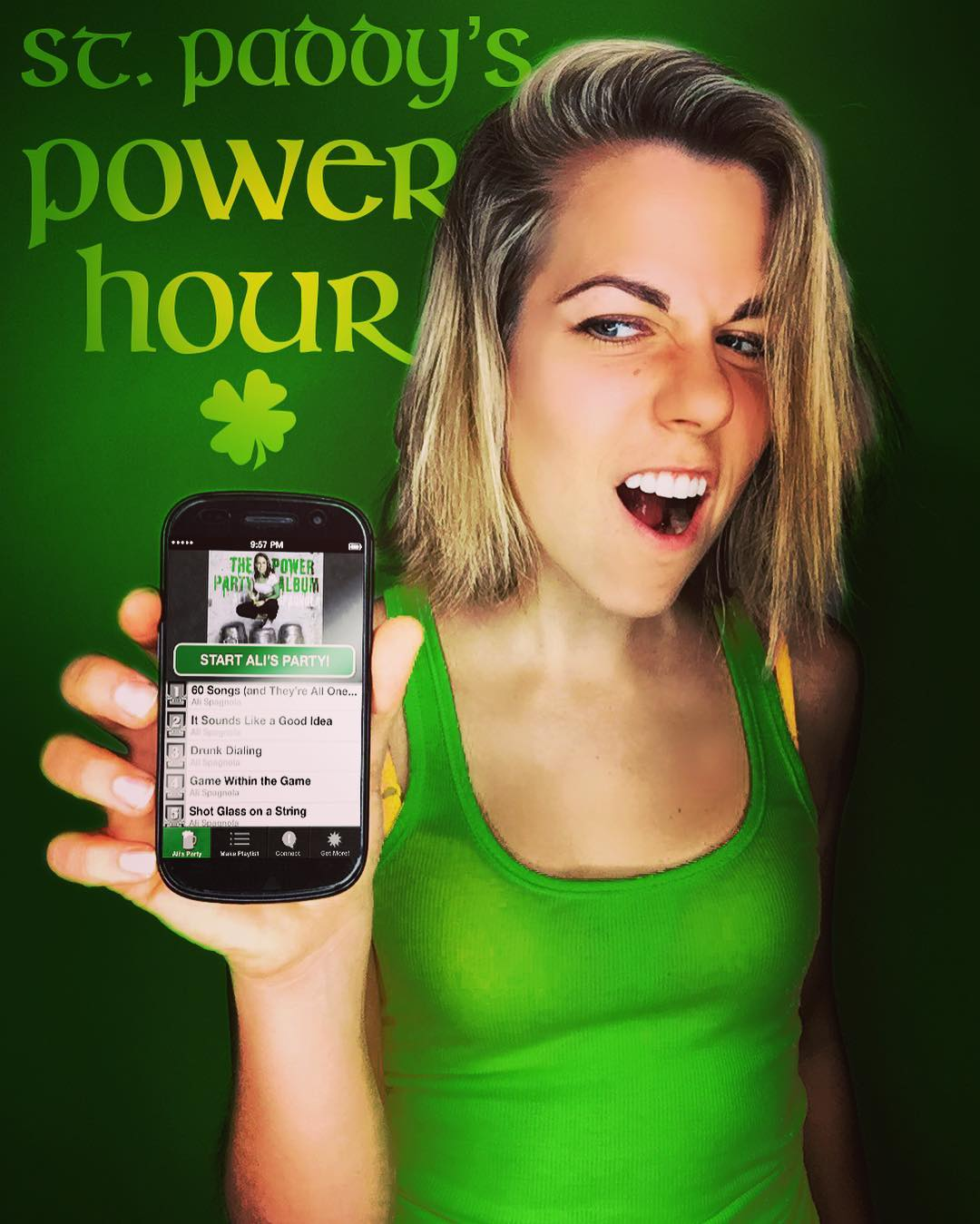 I hear this drinking game goes really well with green beer. (Check the link in my bio to download my party app!)
