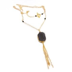 druzy agate necklaces