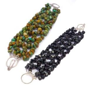 beaded gemstone bracelets