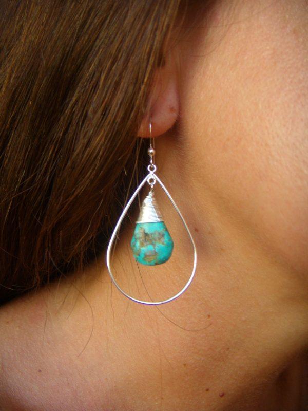 large turquoise teardrop earrings