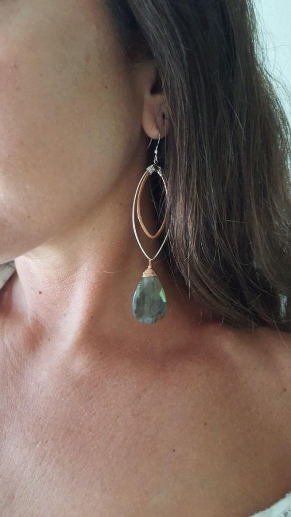 extra long lab earrings