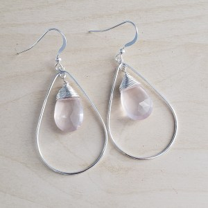 rose quartz earrigs
