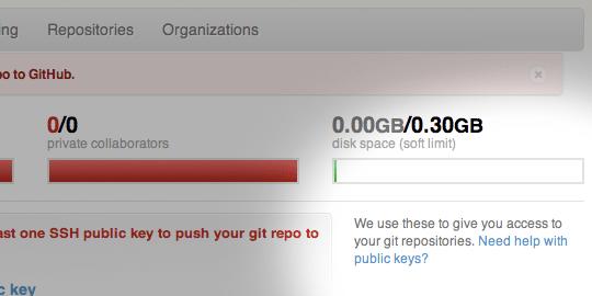 Github fornisce un collegamento alle istruzioni per la creazione delle chiavi SSH.