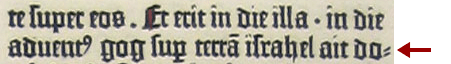 Un esempio del trattino di Gutenberg.