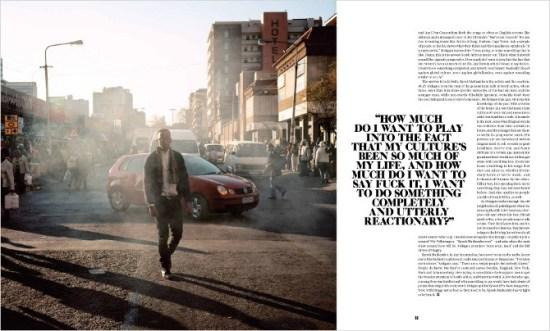 Screenshot di un layout di un magazine con il testo che scorre attorno a un pullquote.
