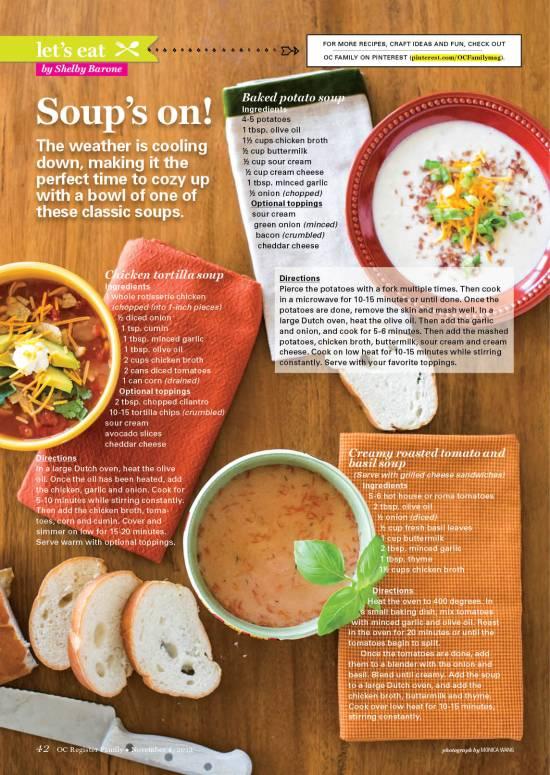 Immagine di un layout di un magazine con il testo che si posiziona attorno alle immagini di forma circolare.