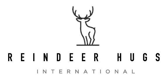 Il logo dall'aspetto molto rispettabile di Reindeer Hugs International. Sembra legittimo