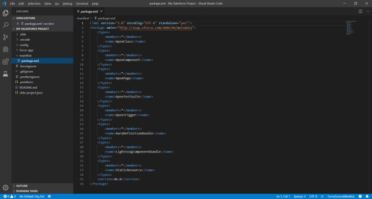 VSCode package.xml