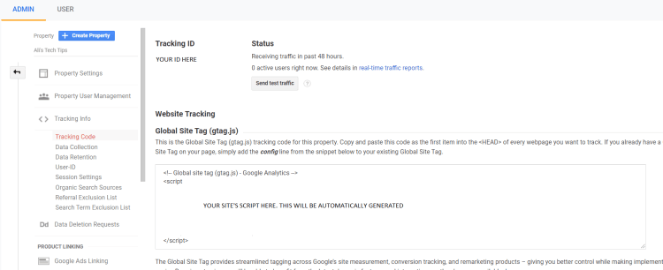 Google Analytics Tracking Code