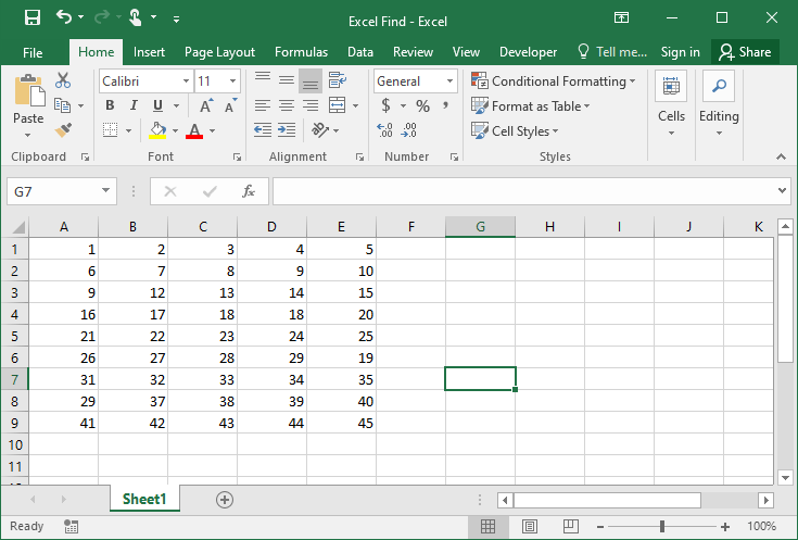 Excel find example 4