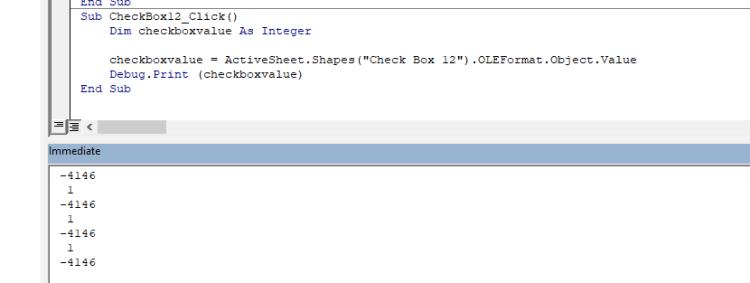 Excel Form Control Checkbox In VBA