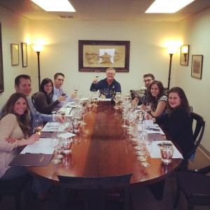 The Alister & Paine Wine Tasting Panel enjoying the 2005 Insignia at Joseph Phelps.