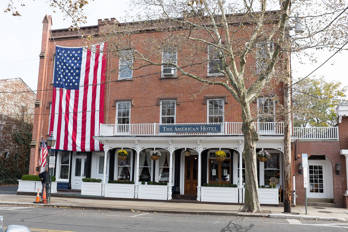 The American Hotel in Sag Harbor was built in 1846 and features eight rooms above it's acclaimed restaurant.
