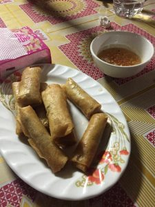 Cooked spring rolls