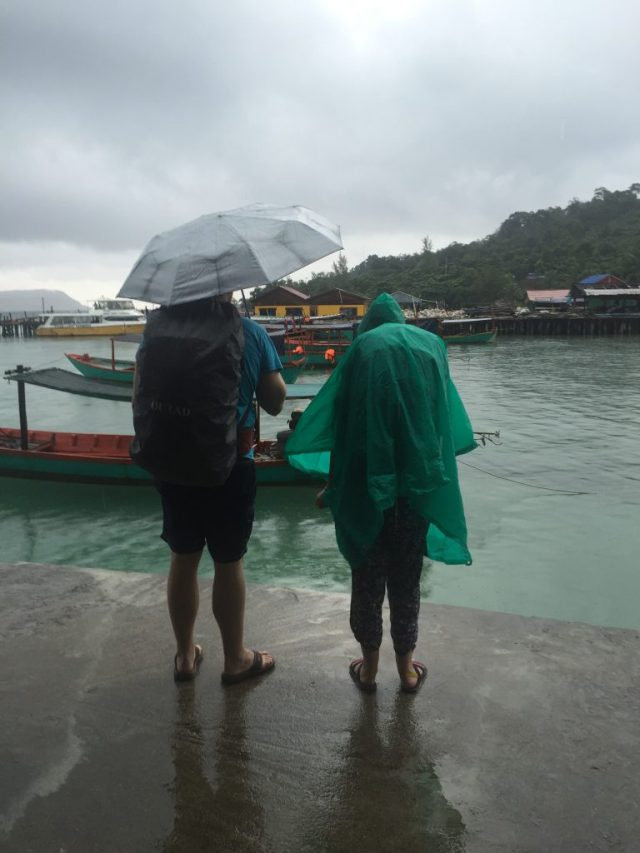 Raining leaving Koh Rong