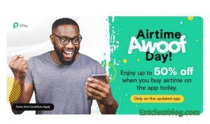 Opay App 50% Airtime Discount