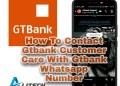 gtbank WhatsApp number