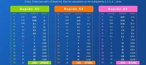 Rapido Run Smart Contract level amd sub levels