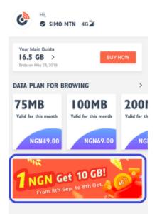 simo 10GB data for N1