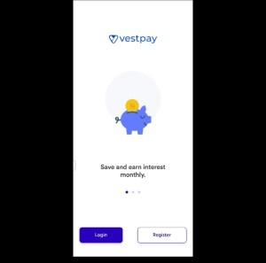 Vestpay registration page