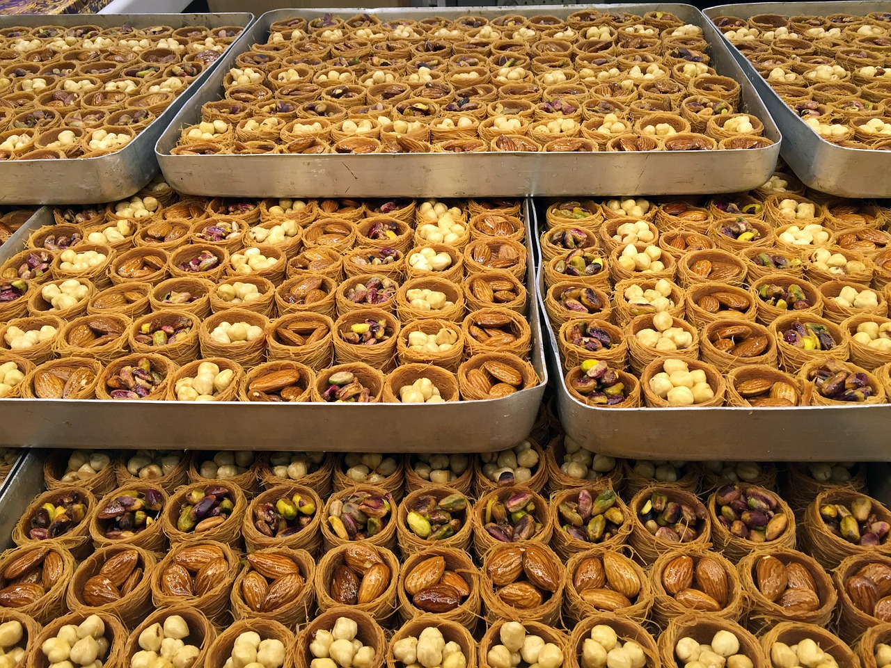 trays of baklava in Bosnia