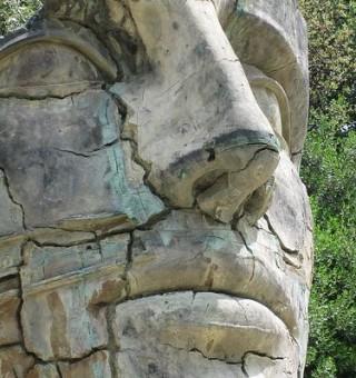 Giant Head Boboli Gardens, Florence, Italy