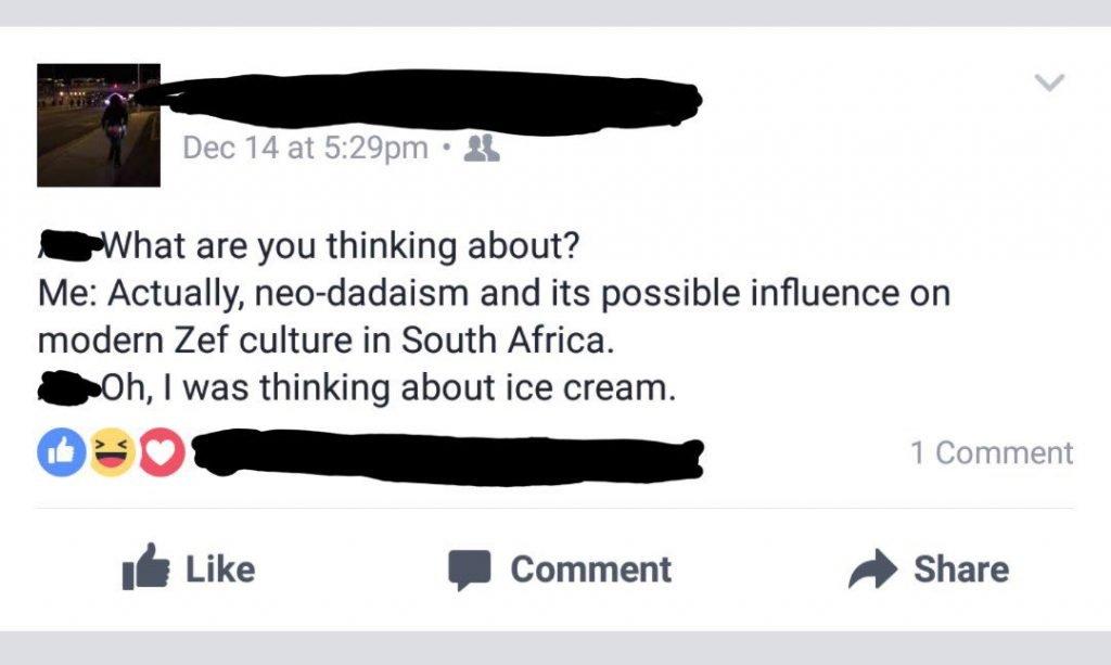 facebook user on neo-dadaism