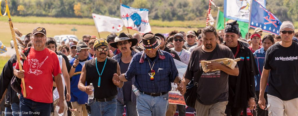 Standing Rock Sioux Tribe protesting DAPL