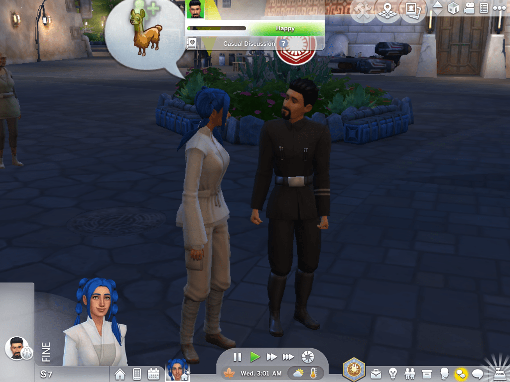 Sims talking to each other