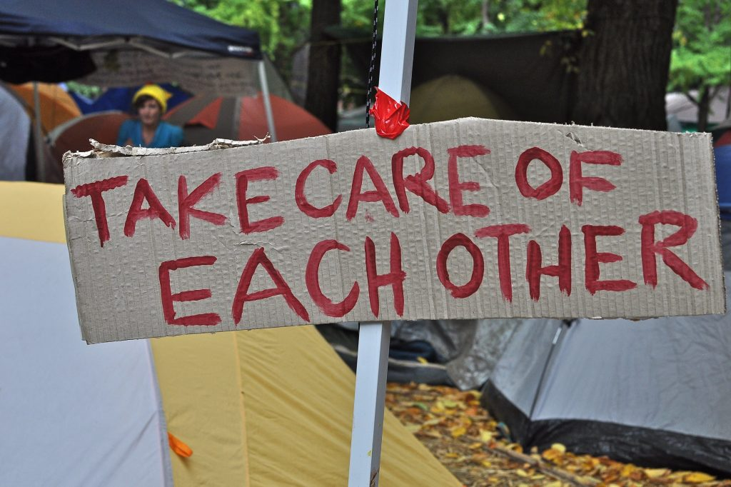 take care of each other sign