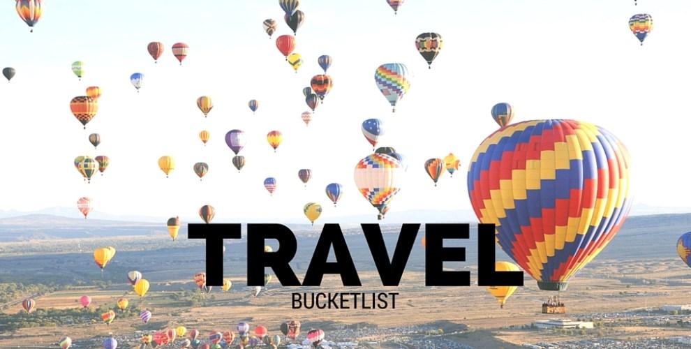 Travel bucket list - Bekah Molony